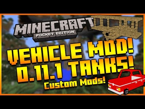 Minecraft PE Mods: Cars, Planes, Tanks Mod Download