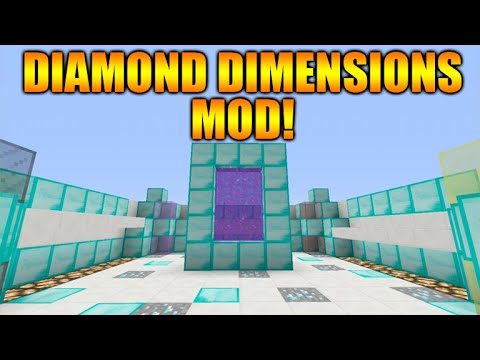 how to make a diamond dimension in minecraft