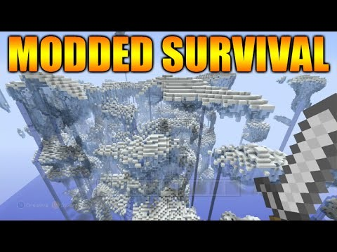 Minecraft Xbox: Shattered Island Modded Survival Map