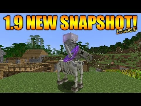 Minecraft 1.9 snapshot 15w38a Skeleton Horses Spawnable In Survival