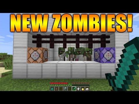 "Minecraft 1.9 Snapshot – ""THE COMBAT UPDATE"" New Zombie Villagers + Command Blocks Changes & MORE!"