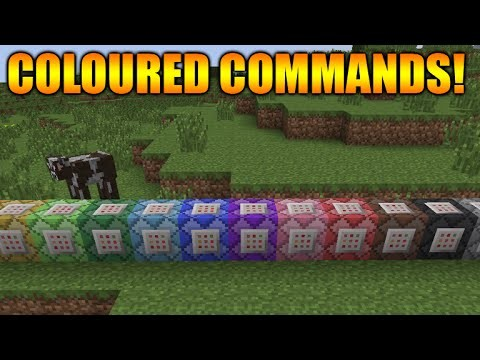 Minecraft 1.9 Update – NEW Coloured Command Blocks + Shields Balancing