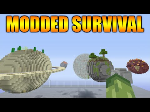 Minecraft Xbox 360 + PS3: NEW! Modded Survival Solar System Custom ...