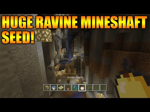 Minecraft Xbox 360 + PS3: TU27 Seed Showcase – The Biggest Surface Ravine With A Mineshaft & More!