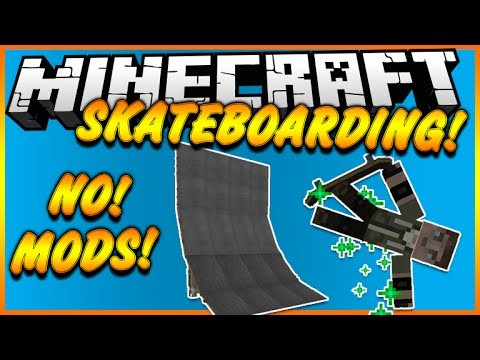 SKATEBOARDING IN MINECRAFT NO MODS
