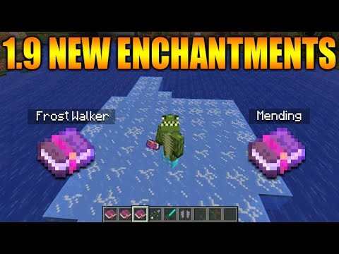 MINECRAFT 1.9 UPDATE NEW ENCHANTMENTS