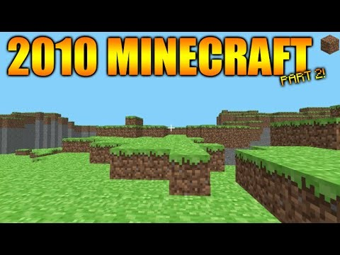 Minecraft Gameplay From 2009/2010 – The First EVER Terrain Generation