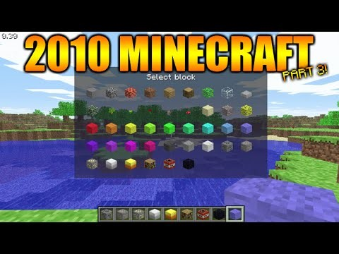 Minecraft Gameplay From 2009/2010 – The First EVER Creative Menu