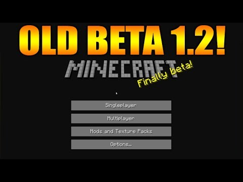 Minecraft Gameplay From 2011/2012 – OLD Beta Version 1.2