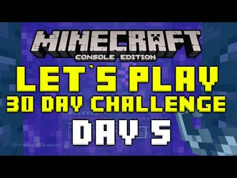 "Minecraft Xbox 360 – 30 Day Let's Play Challenge – ""The Nether Portal"" Episode 5"