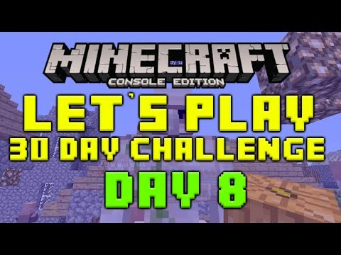 "Minecraft Xbox 360 – 30 Day Let's Play Challenge – ""Cookies And Milk"" Episode 8"