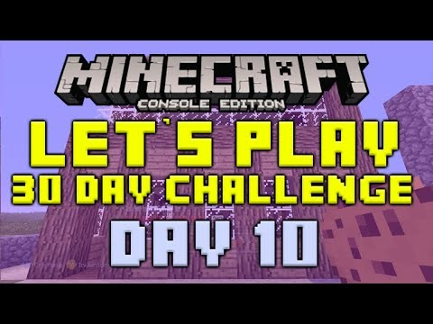 "Minecraft Xbox 360 – 30 Day Let's Play Challenge – ""We built A House!"" Episode 10"