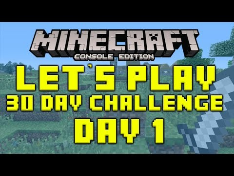 Minecraft Xbox 360 30 Day Survival Challenge Episode 1
