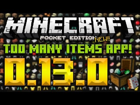 TOO MANY ITEMS FOR 0 13 0 - MCPE Master FREE Inventory
