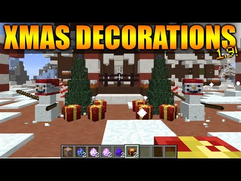 CHRISTMAS DECORATIONS IN MINECRAFT VANILLA – Minecraft 1.9 ONE Command Creation