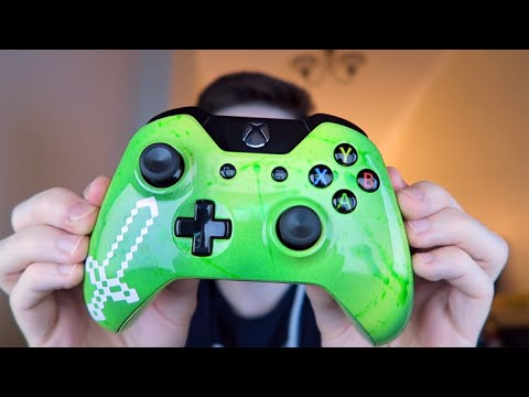 Custom Minecraft Xbox One Controller Unboxing From