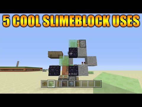 Minecraft Xbox 360 + PS3 Title Update 31 – 5 Cool Thing To Do With Slimeblocks