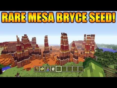 Minecraft Xbox 360 + PS3: TU31 Seed Rare Mesa Bryce Biome + Dark Oak Forest At Spawn