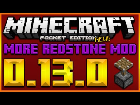 MORE REDSTONE MOD!! MINECRAFT POCKET EDITION 0.13.0 – REPEATERS, COMMAND BLOCKS PISTONS & MORE