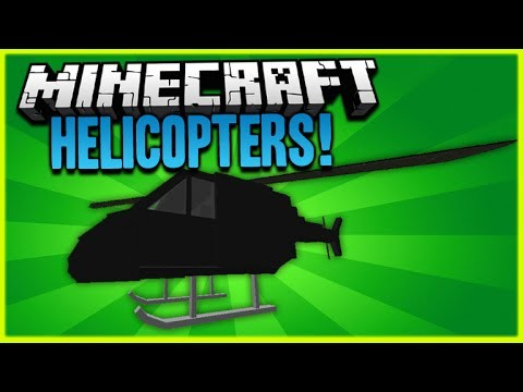 HELICOPTERS IN MINECRAFT!! – Minecraft 1.9 Vanilla Helicopters One Command