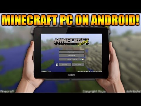 HOW TO PLAY MINECRAFT PC ON ANY ANDROID TABLET OR PHONE TUTORIAL