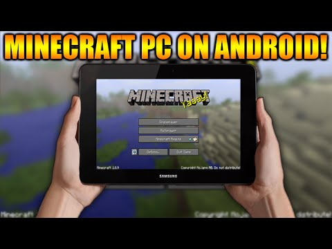 HOW TO PLAY MINECRAFT PC ON ANY ANDROID TABLET OR PHONE