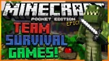 LIFEBOAT TEAM SURVIVAL GAMES! | Minecraft Pocket Edition EPIC FINAL ROUND! (Pocket Edition)