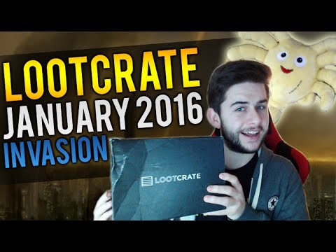 Lootcrate Unboxing | JANUARY 2016 INVASION | Alien Plushie, Epic T-Shirt + Collectables