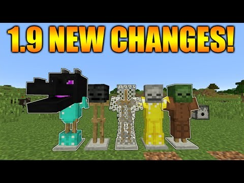 Minecraft 1.9 Update – NEW Glowing Armor Stands Effect Enderdragon Changes (Snapshot 16w02a)