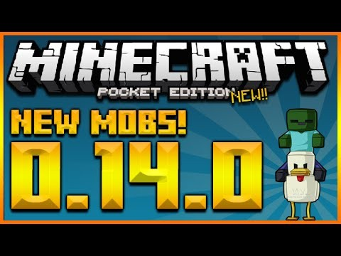 MINECRAFT POCKET EDITION 0.14.0 – NEW EXCLUSIVE MOBS ZOMBIE JOCKEYS FULL GUIDE (MCPE 0.14.0)