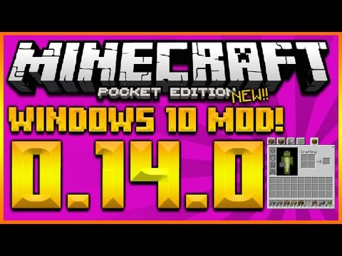 MINECRAFT POCKET EDITION 0.14.0 – WINDOWS 10 UI MOD – PC CRAFTING AND LAYOUT (MCPE 0.14.0)