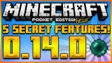 MINECRAFT POCKET EDITION 0.14.0 – 5 SECRET FEATURES ADDED IN UPDATE 0.14.0 (MCPE 0.14.0)