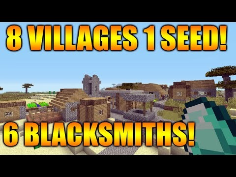 Minecraft Xbox 360/PS3 TU31 Seed – 8 Villages, 6 Blacksmiths, 2 Desert Temples, 1 Surface Spawner