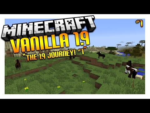Let's Play Minecraft 1.9 – VANILLA SURVIVAL – The 1.9 Journey Episode 1 (Let's Play Minecraft)