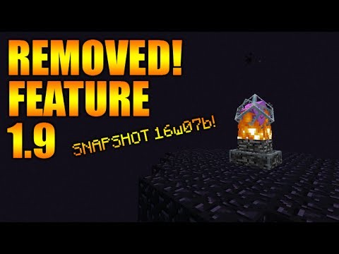 Minecraft 1.9 Update – NEW Changes & Removed End Cages Feature + Special Day ( Snapshot 16w07b )