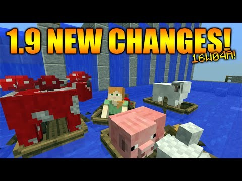 Minecraft 1.9 Update – NEW Sinking Boats & Boat Changes 1.9 Final Stages (Snapshot 16w04a)