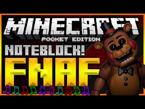 ♫MINECRAFT POCKET EDITION 0.14.0 – FIVE NIGHTS AT FREDDY'S NOTE BLOCK SONG (MCPE REDSTONE)♫