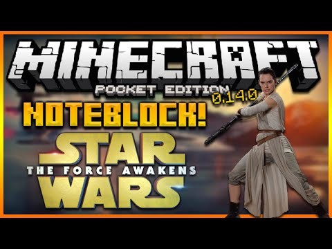 MINECRAFT POCKET EDITION 0.14.0 – STAR WARS AWAKENS NOTEBLOCK SONG (MCPE REDSTONE)