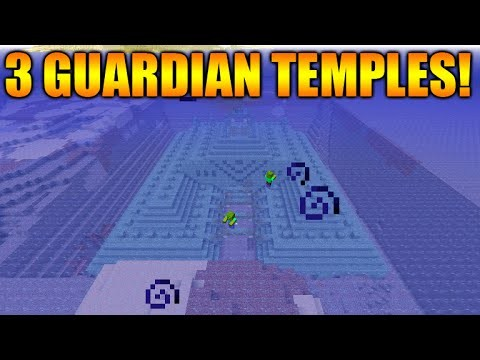 Minecraft Xbox 360/PS3: TU31 Triple Guardian Temple Seed – Survival Island + Rare Temples