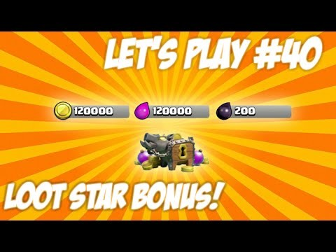 CLASH OF CLANS | LET'S PLAY STAR BONUS! Lucky Attacks + Final Wall Upgrades Live Episode 40
