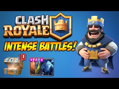 CLASH ROYALE | INTENSE CLAN BATTLES & CROWN CHEST HUNTING! (Clash Royale)