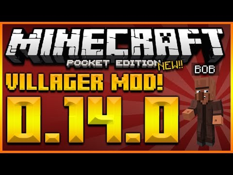 MINECRAFT POCKET EDITION 0.14.0 – CUSTOM VILLAGER MOD – ATTACK, DEFEND, MORPH & MORE (MCPE 0.14.0)