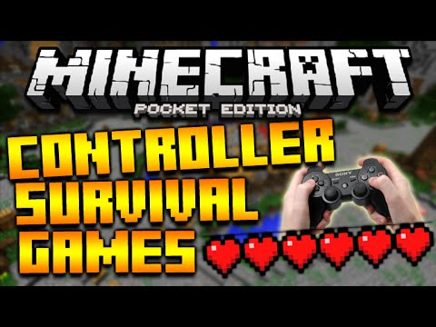 MINECRAFT POCKET EDITION 0.14.0 – HYPIXEL SURVIVAL GAMES WITH A CONTROLLER WE FOUND HACKERS!!