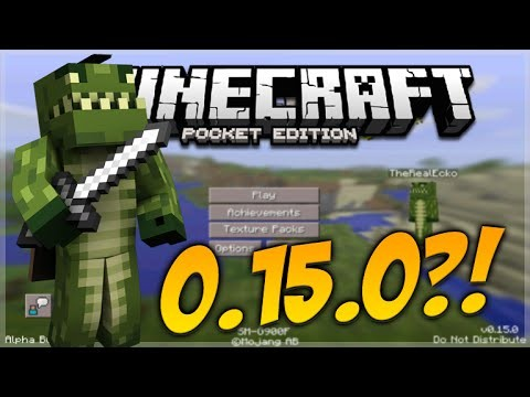 MINECRAFT POCKET EDITION 0.15.0 LEAKED! – MAIN MENU TROLL CONCEPT CREATION ( MCPE 0.15.0)
