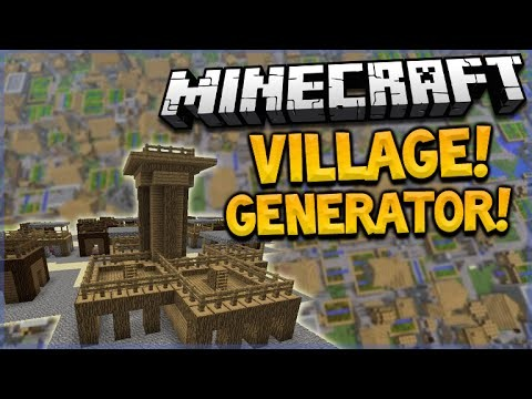 VILLAGE GENERATOR!! Minecraft 1.9 One Command Creation Creates Custom Villages (MC 1.9)