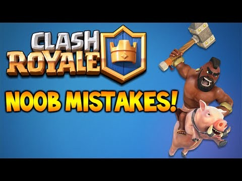 CLASH ROYALE | OMG NOOB MISTAKES!! + CARD HUNTING! (Clash Royale)