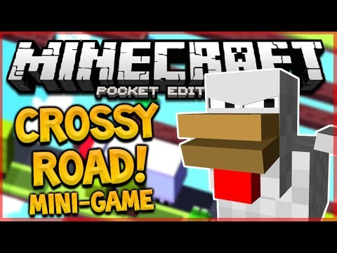 CROSSY ROAD IN MCPE!! – CAN YOU BEAT ME!! – Minecraft Pocket Edition Mini-Game