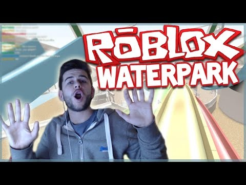 DEATH TRAP WATER SLIDES!! ROBLOX WATERPARK (Roblox Games)