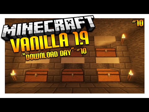 ★Let's Play Minecraft 1.9 – VANILLA SURVIVAL – DOWNLOAD DAY! Episode 10 (Let's Play)★