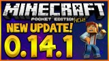 MINECRAFT POCKET EDITION 0.14.1 – NEW UPDATE OUT NOW! STORYMODE SKINPACK & NEW MAP! (MCPE 0.14.1)